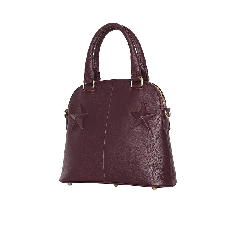 Classic Small Star Burgundy