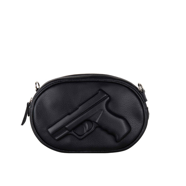Small Oval Purse Gun Black