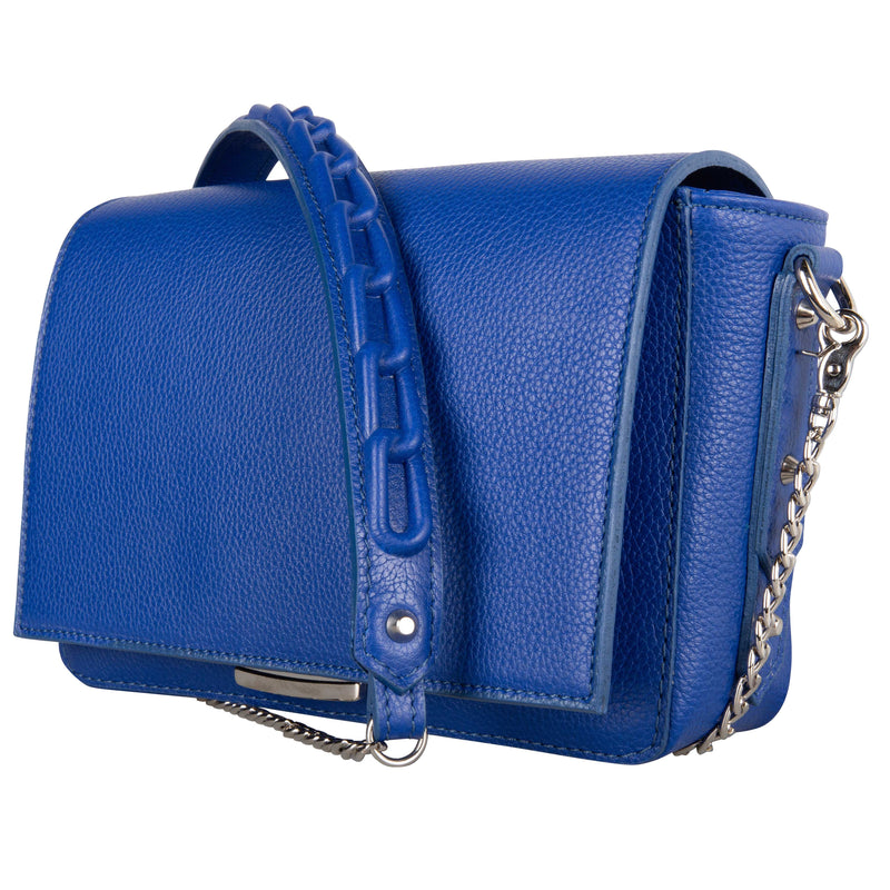 Shoulder Bag Chain Blue