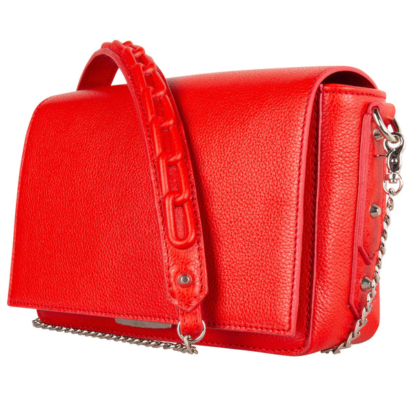 Shoulder Bag Chain Lipstick Red
