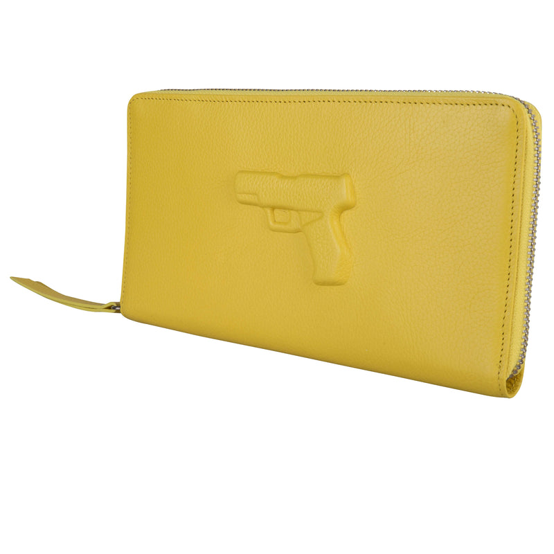 Travel Wallet Gun Yellow