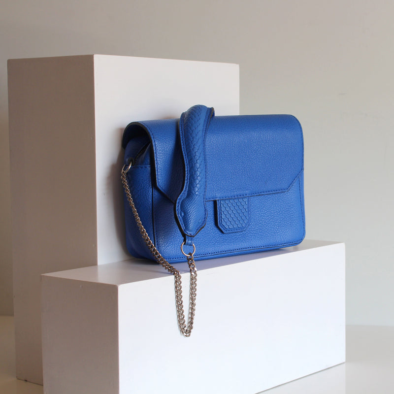 Snake Shoulder bag Cobalt