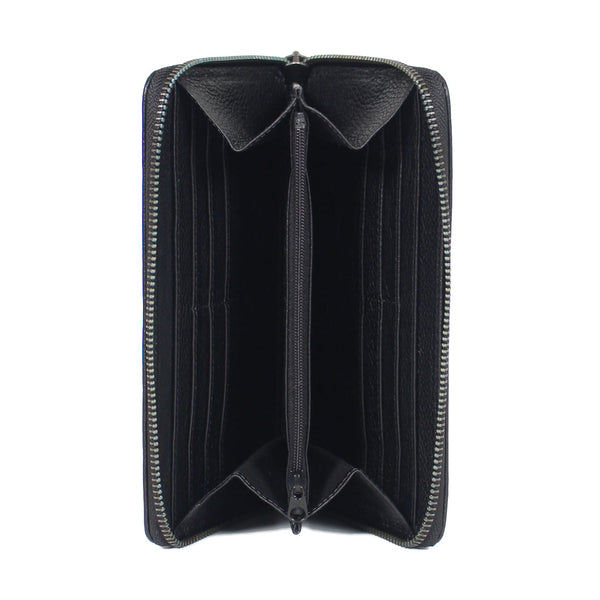 Zipped Wallet Gun Black