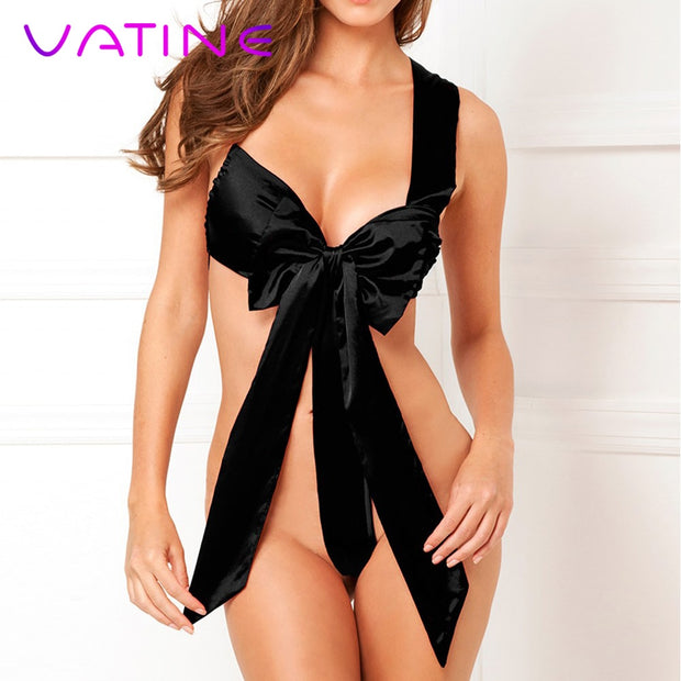VATINE Exotic Apparel Sexy Bow Racy Underwear Sexy Lingerie Adult Product Temptation Costume Sex Toys for Women Erotic Teddies
