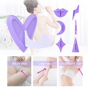 1 Pcs Bikini Privates Parts Pubic Hair Shaving Template Wax Razor Triangle Heart Line Flirting with Razor Sex Toy SM Adult Game