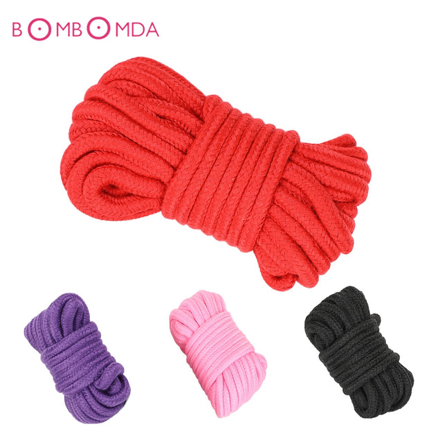 Sex Slave Bondage Rope Thick Cotton Restraint Rope Slave Roleplay Toys For Couples Adult Games Products Exotic Toys 5M 10M