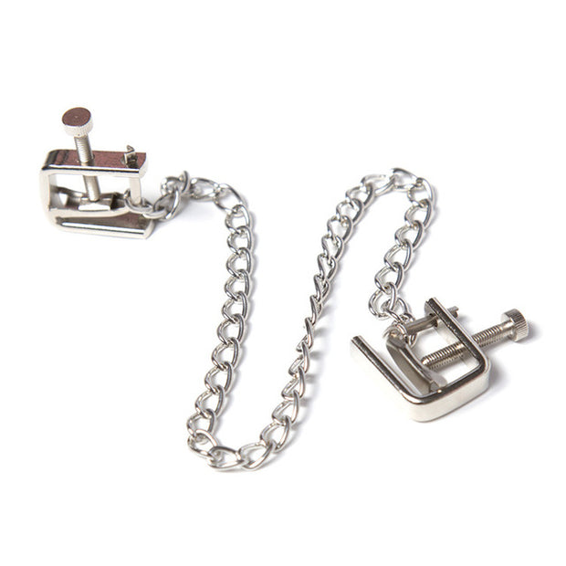 1 Pair Metal Bondage Nipple Clamps Chain Nipple Clips Labia Clamps Slave BDSM Women Toys  Adult Sex Games Breast Clover Clamps