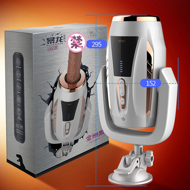 pussy Telescopic Dildo Vibrator With Sucker Rotation Realistic Penis Vibrator Heating Female Masturbator Sex Machine Sex Toy For