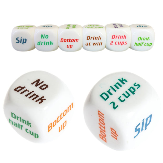 1Pcs English Drinking Wine Mora Dice Games Adult Gambling Sex Bar Party Pub Lovers Drink Decider Dice Funny Toys