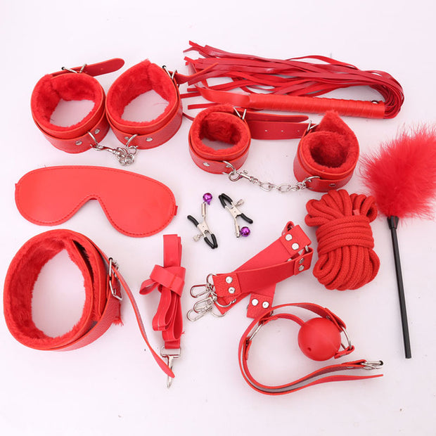 Women Sexy Lingerie Erotic Sex Toys For Adults Sex Handcuffs Clamps Whip Mouth Gag Sex Mask Couples Bdsm Bondage