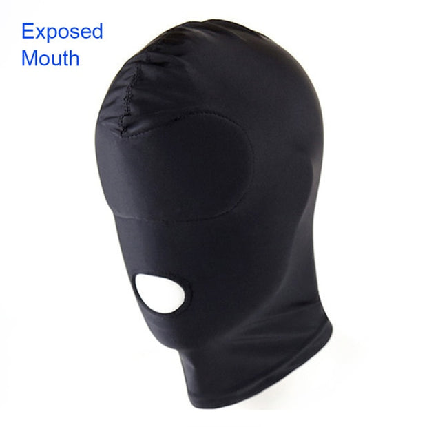 EXVOID Adult Games Sex Toys for Couples SM Bondage Soft Sexy Head Mask Sex Headgear Erotic Toys Black Slave Restraint Hood Mask