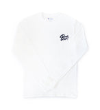 White Athletic Long Sleeve Shirt