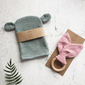 New Baby gift set - Bear and Bunny