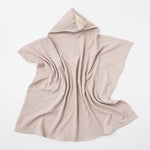 Organic muslin hooded baby towel in sand