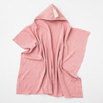 Hooded Towel with Tassel in Shell Pink