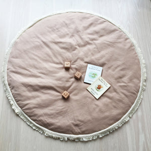 Linen baby mat Blush - Available 28th October