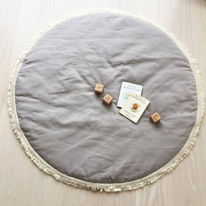 Linen baby mat Stone - Available 28th October