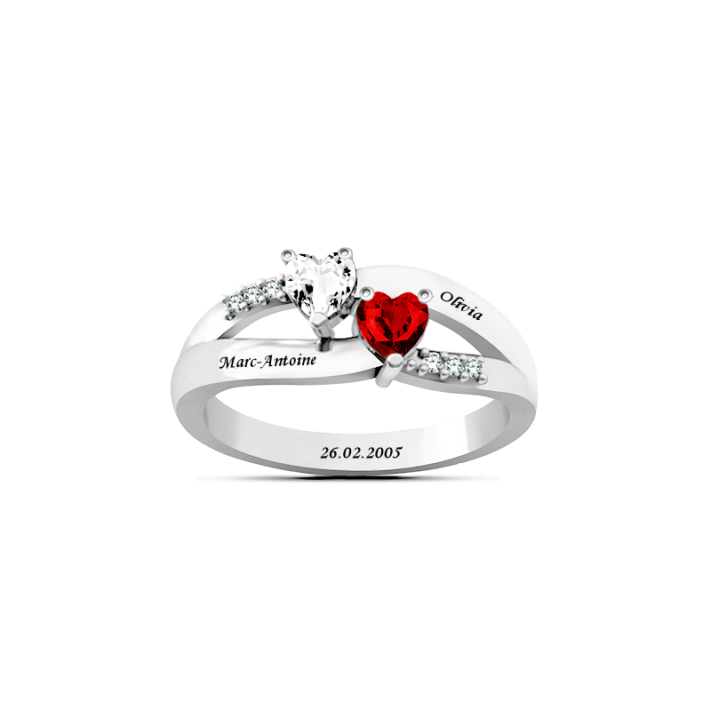 Intertwined Heart Love Ring