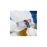 Marquise family ring