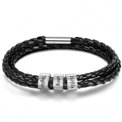 Family-3 leather bracelet