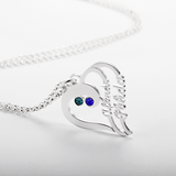 Stylish heart name necklace