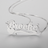 Heart underlined name necklace