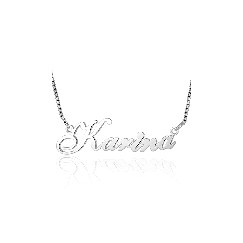 Cursive style name necklace