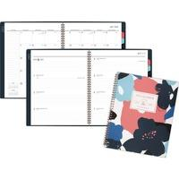 at-a-glance badge floral academic planner
