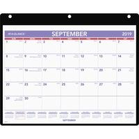 at-a-glance academic monthly desk/wall calendar with poly holder
