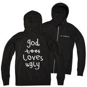 "Atmosphere ""GodLovesUgly"" Zip-Hood"