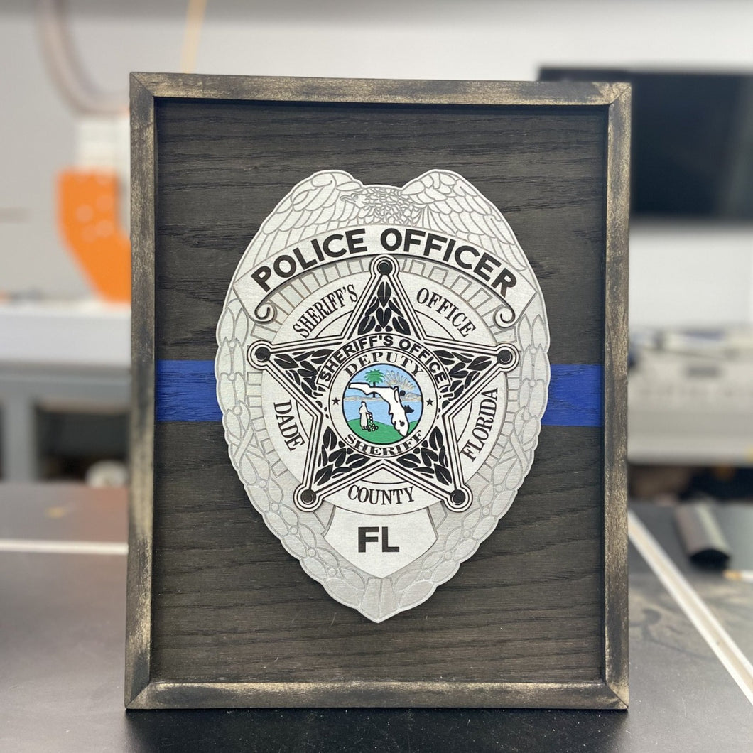 Laser Engraved Desktop Badge