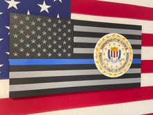 Load image into Gallery viewer, Thin Blue Line Flag w/ logo