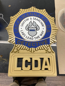 CNC 3D Agency Badge or Patch