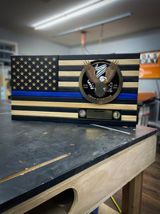 Thin Blue Line Flag w/ logo