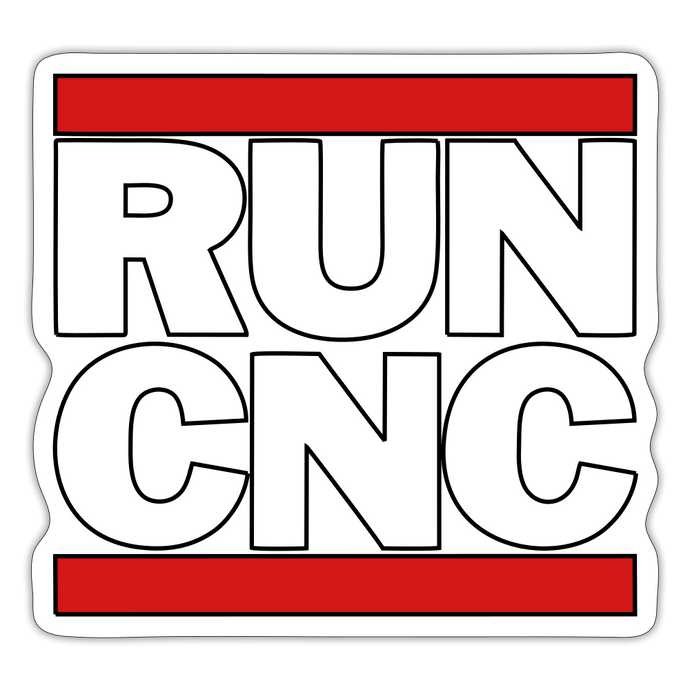 Run CNC Sticker - white matte