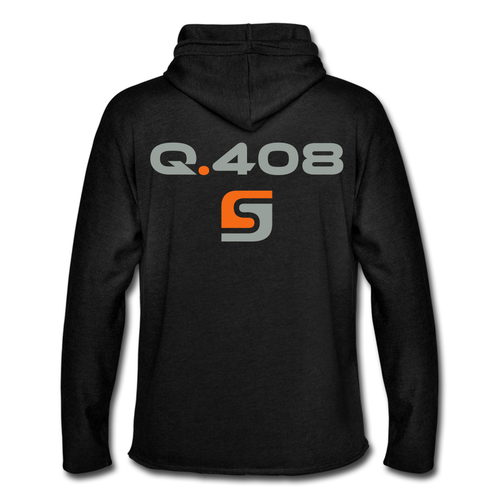 Q.408 Lightweight Hoodie - charcoal gray