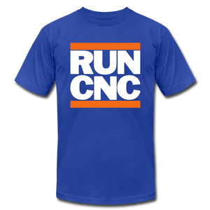 Run CNC Gray - royal blue
