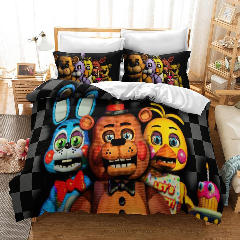 five nights at freddys bedding set quilt cover pillow