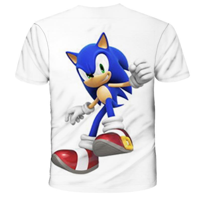 Sonic The Hedgehog T Shirt Short Sleeve White For Kids Prosgifts