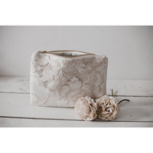 Load image into Gallery viewer, Nude floral lace photo purse