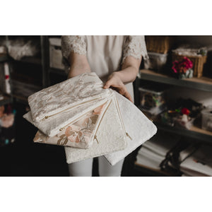 Nude floral lace photo purse