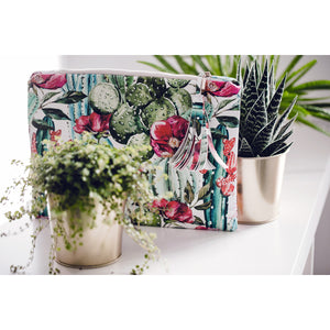 Flower leather photo purse