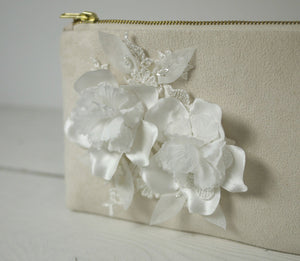Bridal flower photo purse