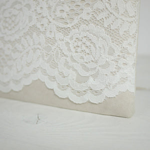 Bridal lace photo purse
