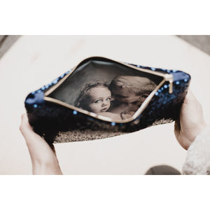 Sequin photo purse