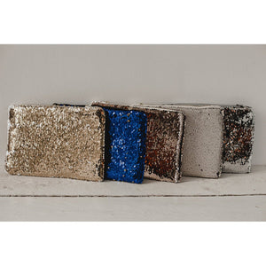 Double sided sequin photo purse
