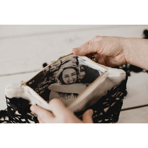 Black lace photo purse