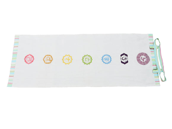 Kanyoga Cotton Seven Colorful Chakra Embroidered Yoga Mat For Ashtanga Yoga