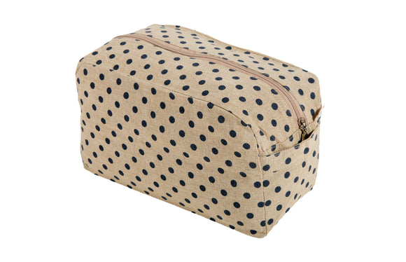 Kanyoga Cotton Polka Dot Printed Utility/Cosmetic Pouch Bag