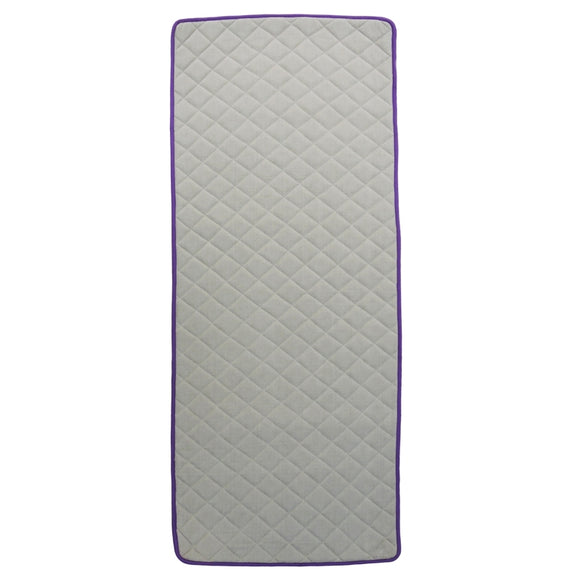 Kanyoga Cotton Anti-Skid Yoga Mat With Rubber Backing - Purple